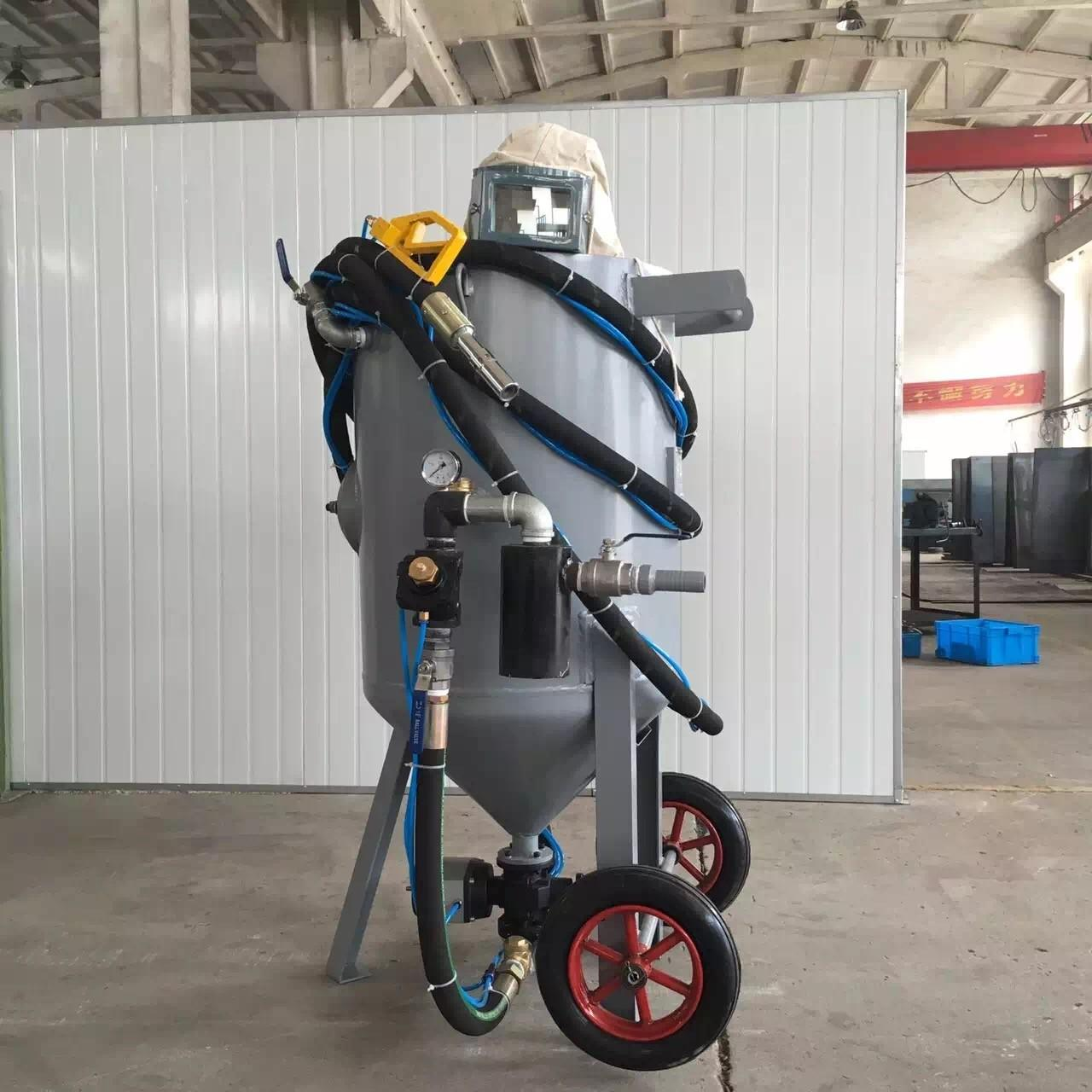 Wholesale Pneumatic Controlled Portable Sandblasting Machine Two Wheels TS -600-1 from china suppliers