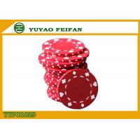 Best Poker And Clubs Pattern Clay Composite Poker Chips 13.5G PANTONE Colors wholesale