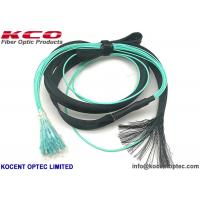 Wholesale MPO to 12 LC OM3 OM4 Fiber Optic Truck Patch Cable With Pulling Eye Protection Tube from china suppliers