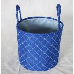 China Hot sale fabric storage basket with round shape , quilting seam design,decorative itme,storage bag, children bag, for sale
