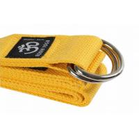 China Yellow 8 Feet Yoga Stretch Strap Cotton Resistance Band Heavy Resistance on sale