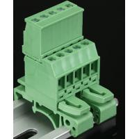 Wholesale 2EDGUVK5.08MM 2P-24P din rail terminal block brass block material green color din rail use terminal block from china suppliers