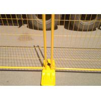 Yellow PVC Coated Hot Dipped Galvanized Temporary Fencing Panels  2100mm x 2400mm OD 32 x 2.00mm pipes thick AS4687-2007