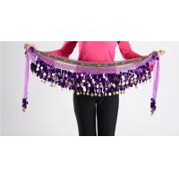 Buy cheap 88 Shinning Gold Coins Chiffon Belly Dancing Hip Scarves With Paillettes And from wholesalers