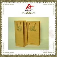 Wholesale Promotional Kraft Paper Carrier Shopping Bags With Twisted Paper Handle from china suppliers