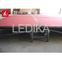 China Folding Mobile Aluminum Stage Platform With Stairs / Portable Stage Rental on sale
