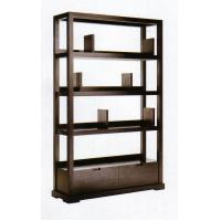 China Modern Hotel Lobby Furniture Solid Wood Commodity Shelf  Partition Wall Walnut  Veneer on sale