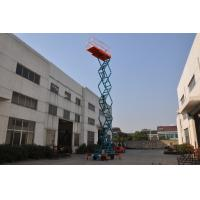 Wholesale 11m Manual Pushing Mobile Scissor Lift  Loading 450kg from china suppliers