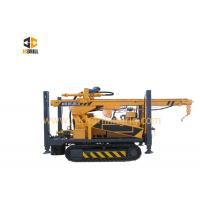 China Hydraulic Diesel Engine Rock Drilling Rig 200m Crawler Mounted Heavy Duty for sale