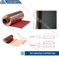 Wholesale TREATED RA COPPER FOIL/THICKNESS:12/18/25/35/50UM/COLOR:RED AND BLACK from china suppliers