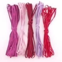 China 1/8 flat skinny elastic in various colors for sale