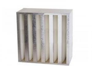 Wholesale High Air Flow Compact HVAC Air Filters V Bank Filter With Galvanized Iron Frame from china suppliers