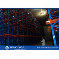 Wholesale Cold Warehouse Racking System , Unisource Q345 Steel Industrial Storage Shelving from china suppliers