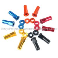 China CNC Billet MX Bling Kit Wheel Lock Nuts And Wheel Spacers For MX Dirt Bike for sale