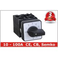 China 10 Position Rotary Switch , Manual Changeover Switch 63A 80A 100A on sale