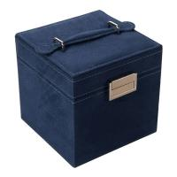 China Storage / Packaging Leather Jewelry Box For Retail Black Color Customized Size for sale