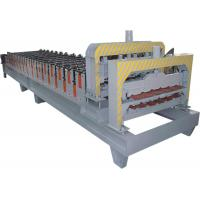 Galvanized Steel Double Layer Roll Forming Machine With HRC50 - 60 Heat Treatment