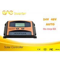 China original design60A pwm charge controller,pwm solar charge controller  48v24v auto