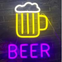 Wholesale Personalised BEER Outdoor Neon Open Sign Silicone Acrylic Material 12V DC from china suppliers