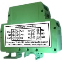 Wholesale Pressure Strain Bridge Signal Conditioners WAYJUN 2500VDC  one in one out signal converter green DIN35 CE approved from china suppliers