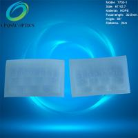 China HDPE material rectangle shape transparent color pir sensor fresnel lens for infrared switch made in China Model 7703-1 for sale