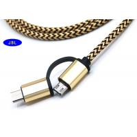 Best Portable Aluminium Shell Apple Iphone Cord , Cotton Braided Micro Usb Cable 2-1 wholesale
