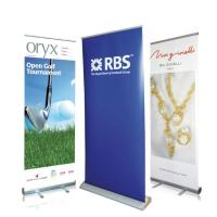 Wholesale Waterproof Roll Up Banner Display Dye Sublimation Full Color Printing Reusable from china suppliers
