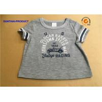 Overall Size Baby Boy Short Sleeve T Shirt , Heather Gray Kids Short Sleeve Tops for sale