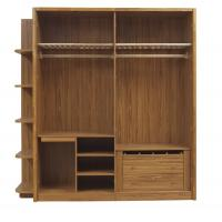 Wholesale Open doors cloth armoire by wood panel with Sock and tie tray inside drawer chest in metal sliding rail outside racks from china suppliers