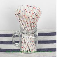 Wholesale Five Pointed Star Pattern Colored Paper Straws For Cold Drink , Eco Friendly from china suppliers