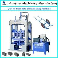 Wholesale FOR small factory to do business of concrete block machine ! QT4-40 Semi-auto concrete block making machine for sale from china suppliers