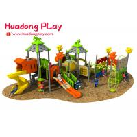 China Magic House Series Outdoor Playground With Slide , Outdoor Playground Equipment for sale