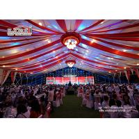 Wholesale Aluminum Frame PVC Roof Structure Marquee Tent Hal 50x50m Luxury Wedding Tents with Ceiling Lining and Lighting from china suppliers