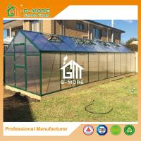 Wholesale Aluminum Greenhouse-Titan series-1206X306X243CM-Green/Black Color-10mm thick PC from china suppliers