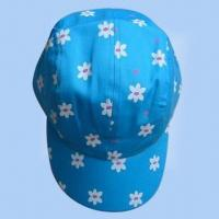 Wholesale Women's 100% Cotton Printed 4-panel Cap from china suppliers