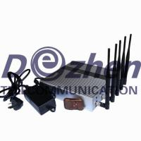 China 5 Band Cellphone GPS signal Jammer with Remote Control on sale