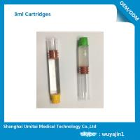 Wholesale Pharmaceutical Red Butyl Rubber Glass Cartridge , Local Anesthetic Cartridge from china suppliers