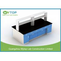 Steel Structure Lab Bench Furniture For HIV Laboratory Heat Resistance