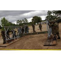 Quality Military Painted Modular Steel Bridges Bailey Truss Bridge With Steel Deck for sale