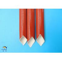 Wholesale Flexible Flame Retardant Silicone Coated Fiberglass Sleeving / Expandable Tubing from china suppliers