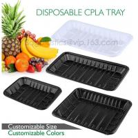 Wholesale PLA plate best selling prodcts, biodegradable PLA dinner plate for restaurant use, pla food box for meat from china suppliers