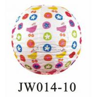 Wholesale Number Printed Kids Paper Lanterns , 10 Inch 14 Inch Indoor Hanging Paper Lanterns from china suppliers
