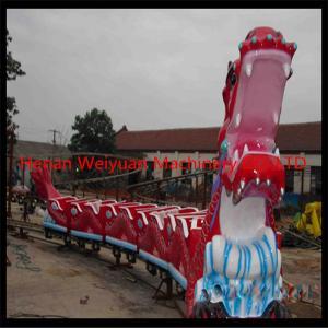 China Kids rides dragon slide roller coaster/ double track roller coaster for sale on sale