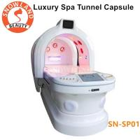 China 110v/220v Ozone Dry SPA Infrared Sauna Capsule With Photon Light Magic Tunnel for sale
