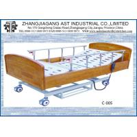 Quality Electric Remote Control Hospital Bed Three Function Wooden For Patient Care for sale