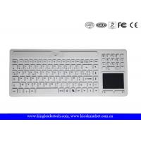Buy cheap Logo Customizable Wireless Silicone Keyboard Waterproof With Touchpad / Numpad from wholesalers