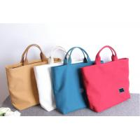 Multicolored Monogrammed Canvas Tote Bags Recyclable With Customized Logo for sale