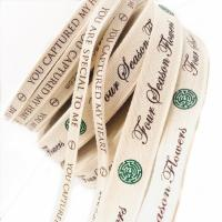 100% Natural Custom Printed Ribbon , Personalised Cotton Ribbon Eco - Friendly for sale