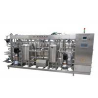 Wholesale Mango Juice Coconut Milk Sterilizer Machine , Fully Automatic UHT Pasteurization Equipment from china suppliers