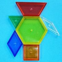 Wholesale Transparent Pattern Blocks, Comes in 6 Assorted Shapes and Colors from china suppliers